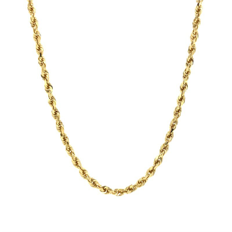 Robert Palma Designs 14K Diamond Cut Rope Chain