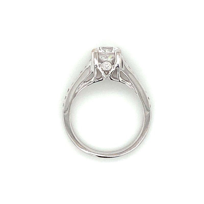 Robert Palma Designs 18k White Gold 4-Prong Ring