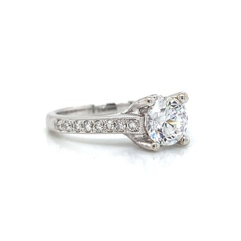 18k White Gold 4-Prong Ring
