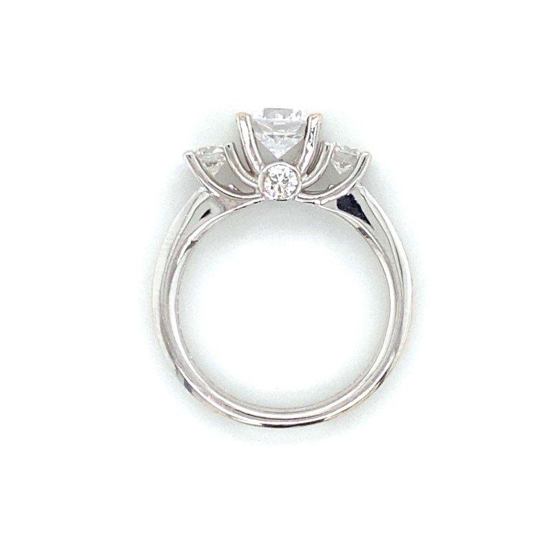 Robert Palma Designs 18k White Gold Three Stone Ring