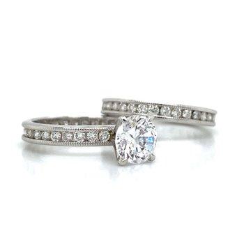Platinum Eternity Wedding Set