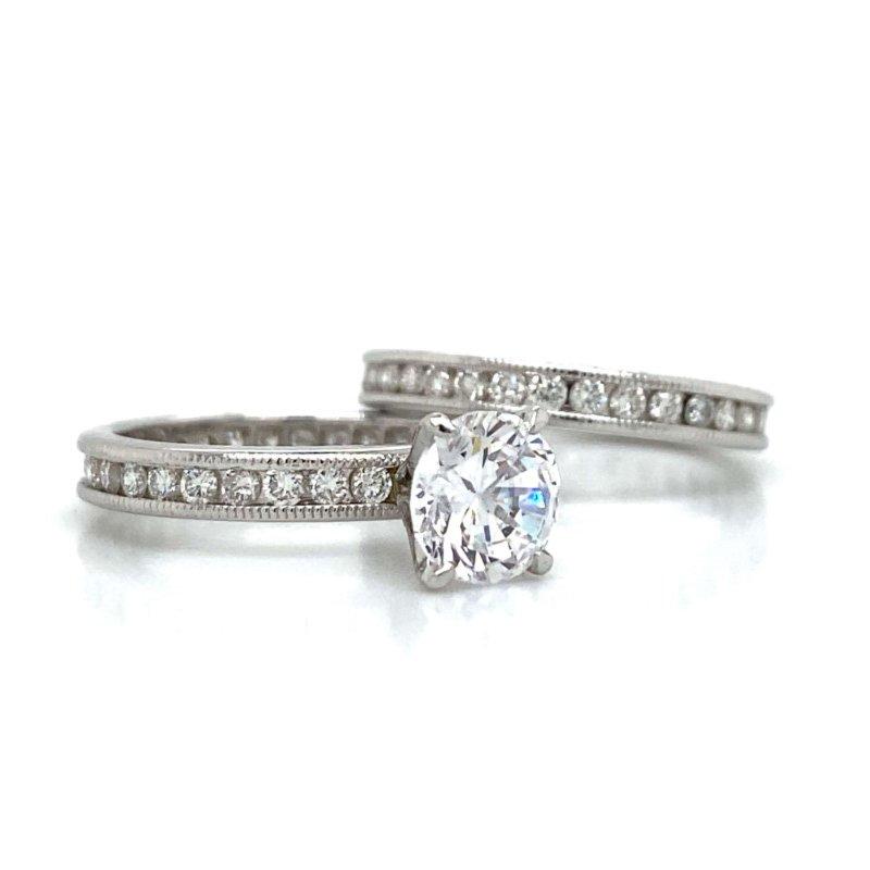 Robert Palma Designs Platinum Eternity Wedding Set