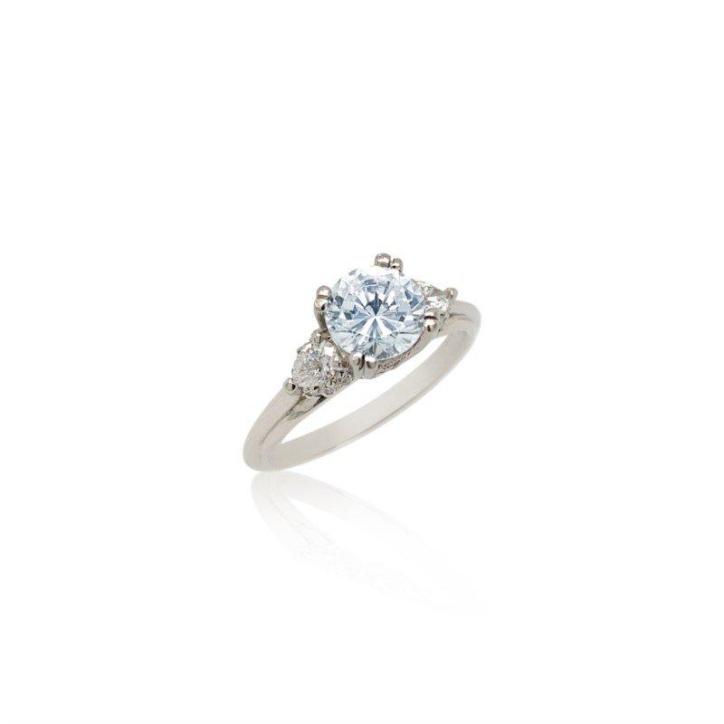 Robert Palma Designs Platinum Tacori Three Stone Ring