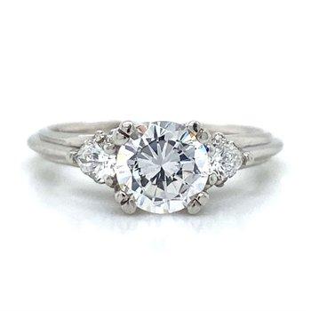 Platinum Tacori Three Stone Ring