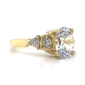 18K 5 Stone Diamond Ring