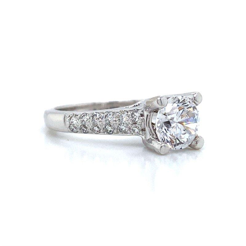 Robert Palma Designs 14k White Gold 4-Prong Ring