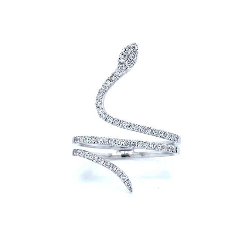 14K Diamond Snake Ring