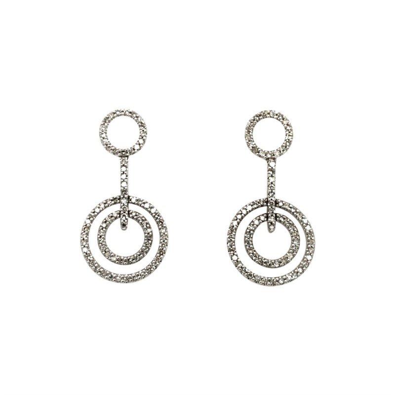 Robert Palma Designs 14k White Gold Dangle Circle Earrings