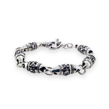 Silver Barrel Bracelet