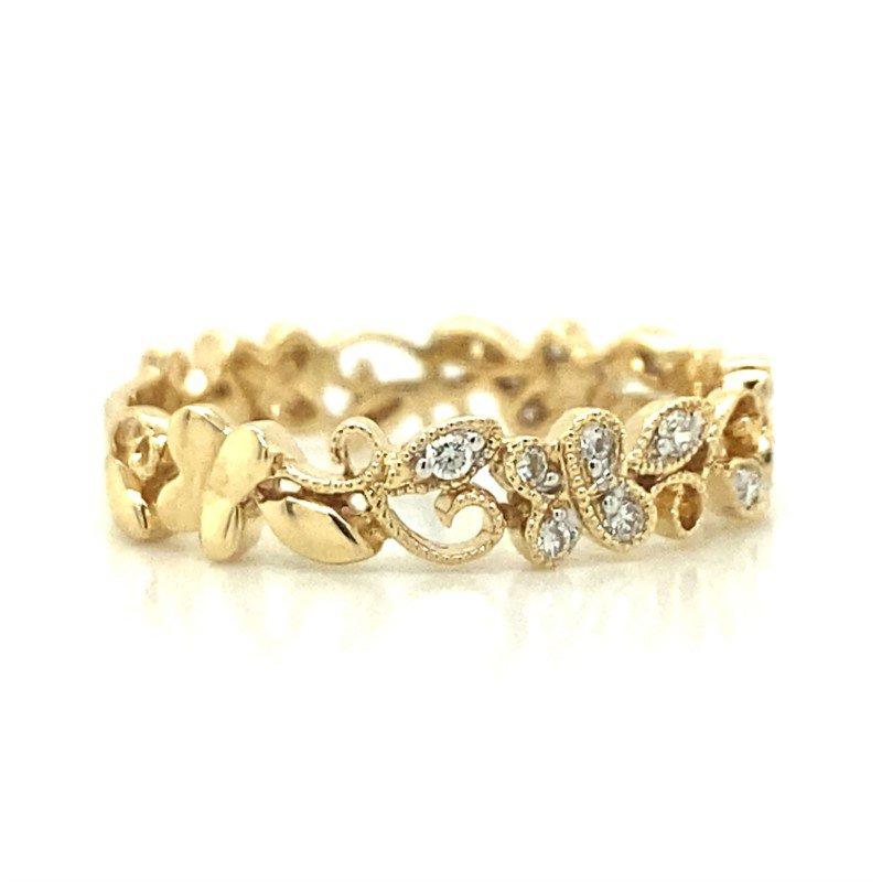 Robert Palma Designs 14k Yellow Gold Diamond Band