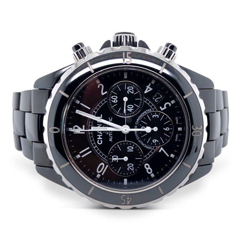Chanel Black Ceramic J12 Chronograph Watch