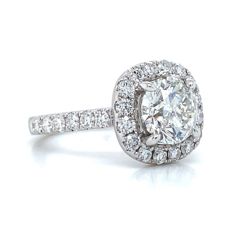 Robert Palma Designs 18K White Gold Halo Diamond Ring