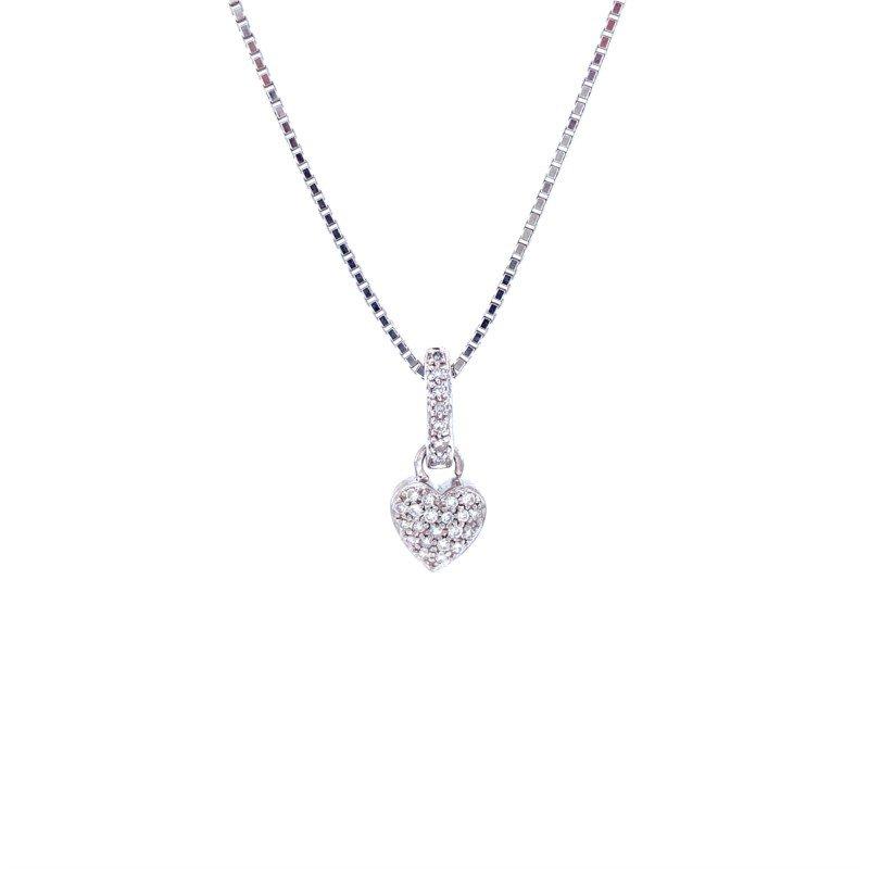 Robert Palma Designs 14k White Gold Heart Pendant