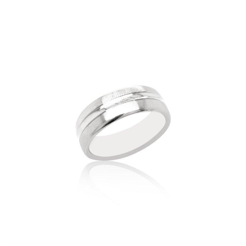Benchmark Rings 14k White Gold Band