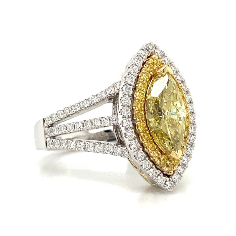 Robert Palma Designs 18K Yellow Diamond Ring