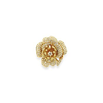 18k White & Rose Gold Floral Ring