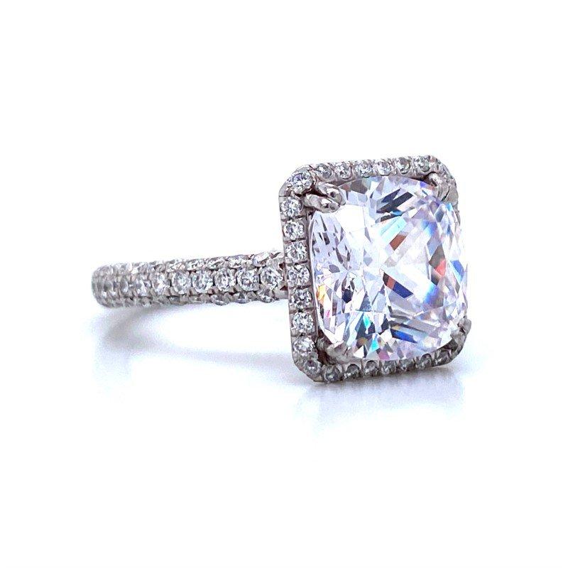 Robert Palma Designs Platinum Diamond Halo Ring
