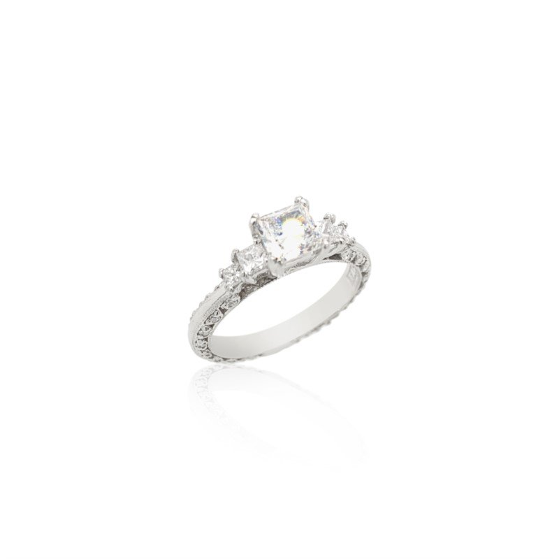 Robert Palma Designs Platinum Tacori Five Stone Ring
