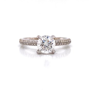 Ladies 18K Diamond Engagement Ring