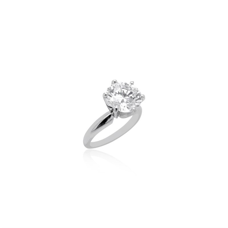 Robert Palma Designs Platinum Solitaire Ring