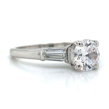 Platinum Three Stone Ring