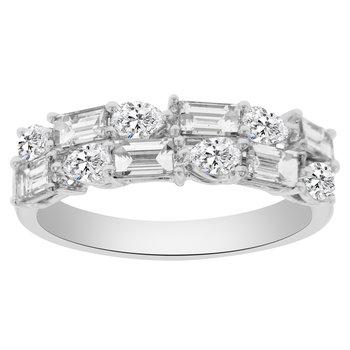 1 1/3ct tw Diamond Anniversary Ring in 18K White Gold