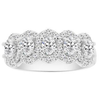 1ct tw NewBorn Lab Created Diamond Ring in 14K White Gold