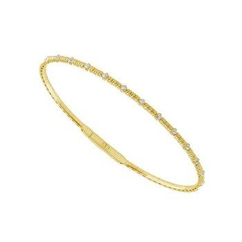 1/5ct tw Diamond Bangle Bracelet in 14K Yellow Gold