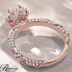 1 1/2ct tw NewBorn Lab Created Diamond Engagement Ring in 14K Rose Gold