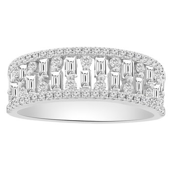 3/4ct tw Diamond Fashion Ring in 14K White Gold