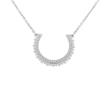 1/4cttw Diamond Bar Necklace in 10K White Gold