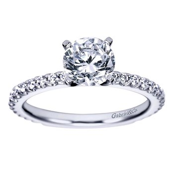 1/3ct tw Diamond Engagement Ring Setting in Platinum