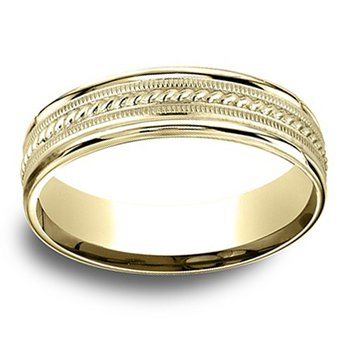 6mm Wedding Ring in 10K Yellow Gold
