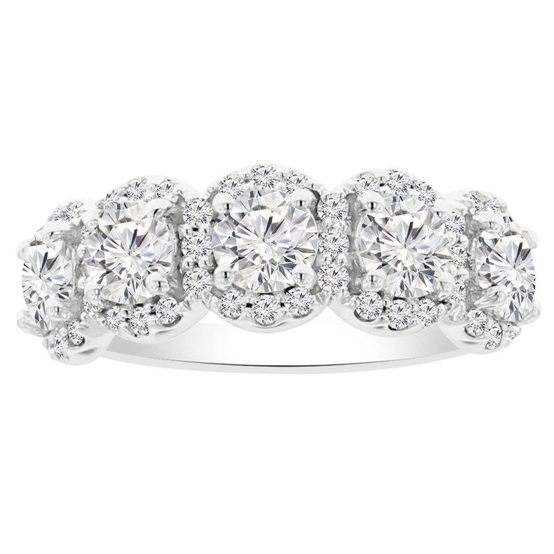 1 7/8ct tw NewBorn Lab Created Diamond Halo Fashion Ring in 14K White Gold
