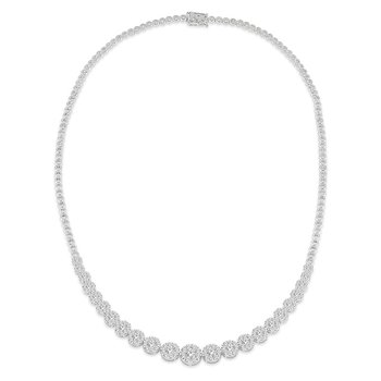 5ct tw Diamond Thousand Points of Light Riviera Necklace in 14K White Gold