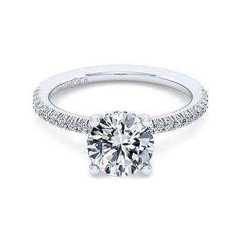 1/4ct tw Diamond Engagement Ring Setting in 14K White Gold