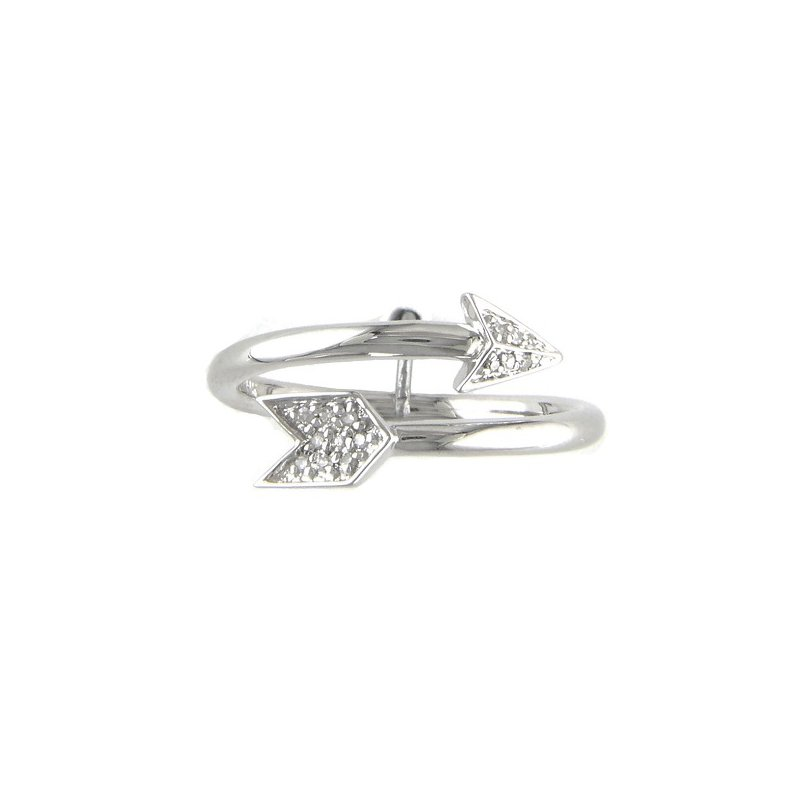 .05ct tw Diamond Arrow Ring in Sterling Silver