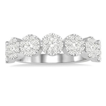 1ct tw Diamond Thousand Points of Light Ring in 14K White Gold