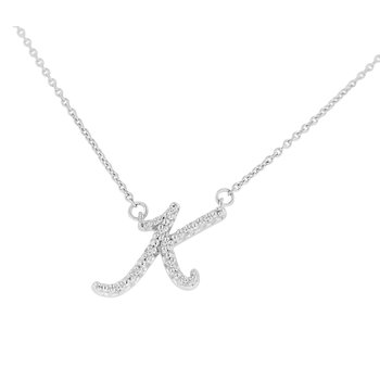 .06ct tw NewBorn Lab Created Diamond Love Letter Necklace in Sterling Silver