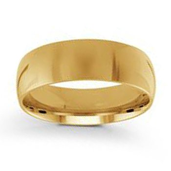 7mm Wedding Ring in 14K Yellow Gold