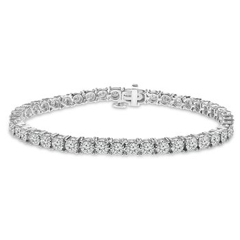 8ct tw NewBorn Lab Created Diamond Tennis Bracelet  in 14K White Gold
