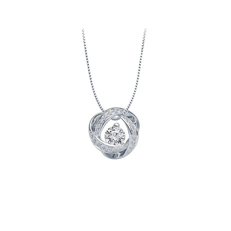 1/3ct tw Diamond Time & Eternity Necklace in 14K White Gold