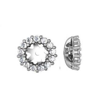 1/4ct tw NewBorn Lab Created Diamond Earring Jackets in 14K White Gold
