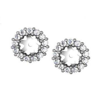 1/4ct tw NewBorn Lab Created Diamond Earring Jackets in 14K White Gold