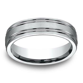 6.5mm Wedding Ring in 10K White Gold