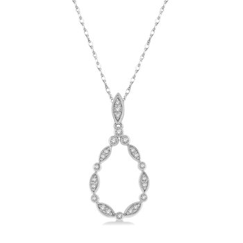 1/8ct tw Diamond Fashion Necklace in 10K White Gold