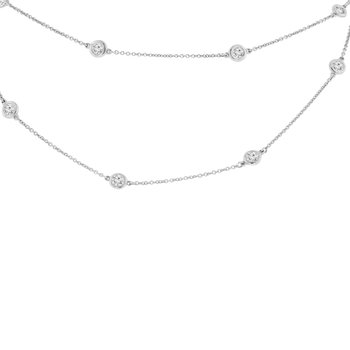 2 1/8ct tw NewBorn Lab Created Diamonds By the Yard Necklace in 14K White Gold