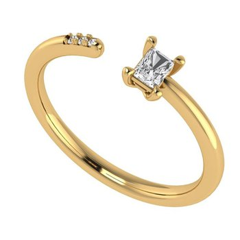 1/8ct tw Diamond Open Ring in 14K Yellow Gold