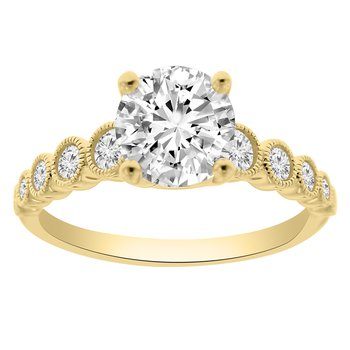1 1/2ct tw NewBorn Lab Created Diamond Engagement Ring in 14K Yellow Gold