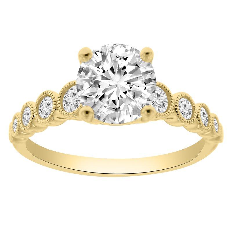 1 1/2ct tw NewBorn Lab Created Diamond Engagement Ring in 14K Yellow Gold